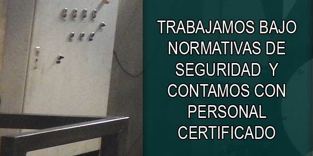 Normativas de seguridad y personal calificado.